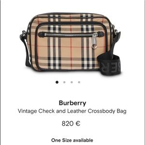 UNISEX Auth Burberry side/bumbag